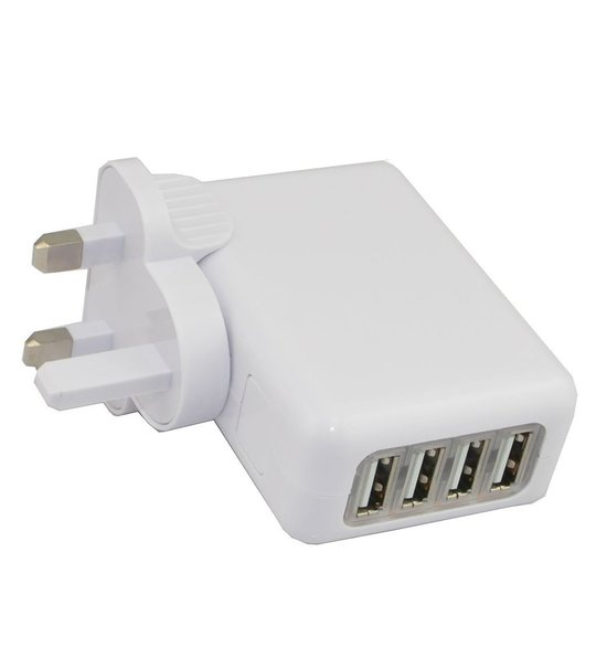 4 port USB Family Charger for All Usb Charging Devices