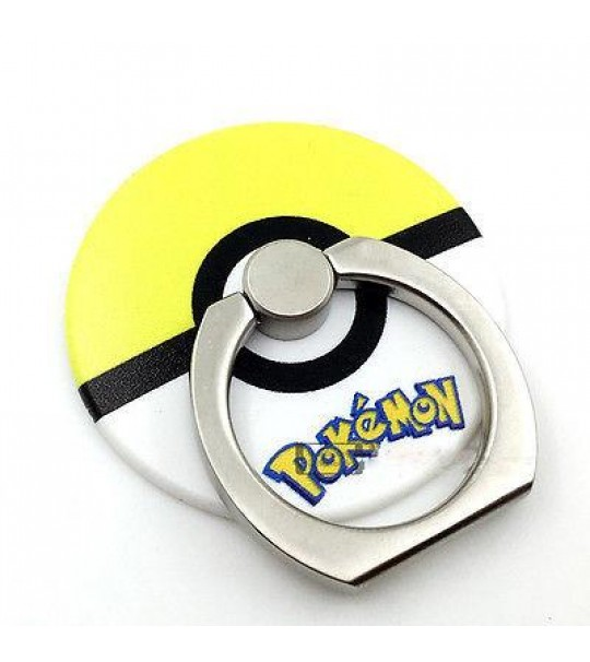 Pokemon Pokeball Rotating Ring Stand Holder - YELLOW