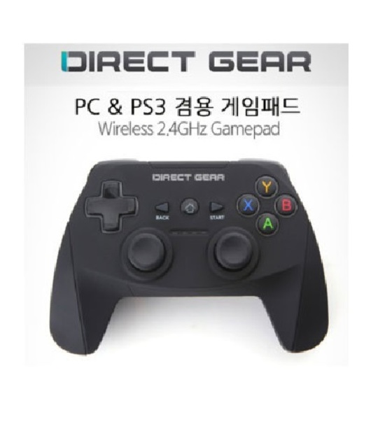 Direct Gear Official Ps3/Pc Wireless Controller (Black)