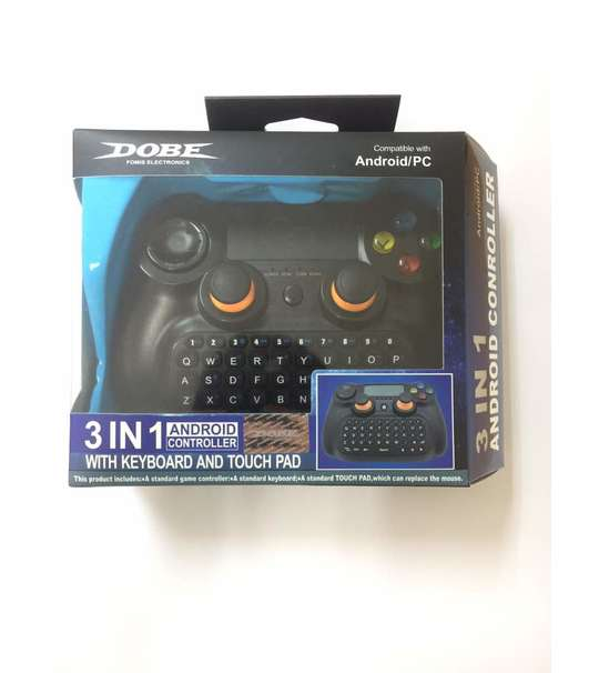 DOBE 3In1 Wireless Bluetooth Gamepad Controller with Keyboard and Touchpad FOR ANDROID/IOS/PC MOBILE PHONE(TI-501)