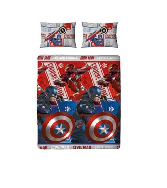Cap America Civil War Double Rotary Duvet Cover Set