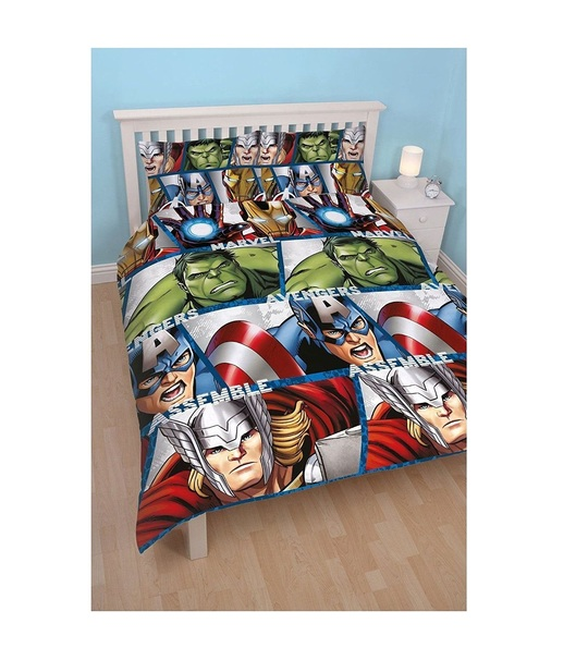 Disney Marvel Avengers Shield Double Rotary Duvet Cover Set