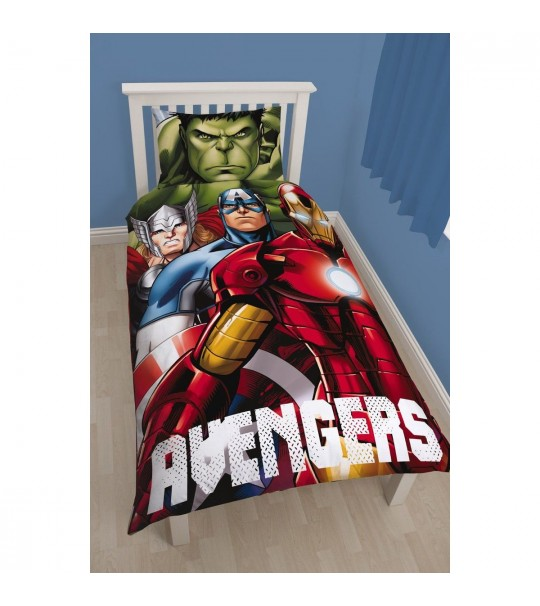 Disney Marvel Avengers Shield GID Single Panel Duvet Cover Set