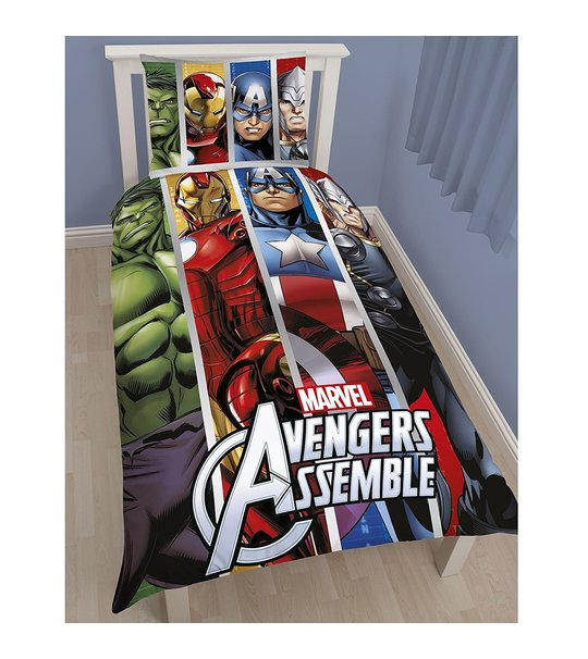 Disney Marvel Avengers Team Single Panel Duvet Cover Set