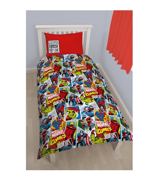 Disney Marvel Comics Justice Single Rotary Duvet Cover Set