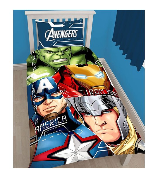Marvel Avengers Tech Single Panel Duvet Cover Set