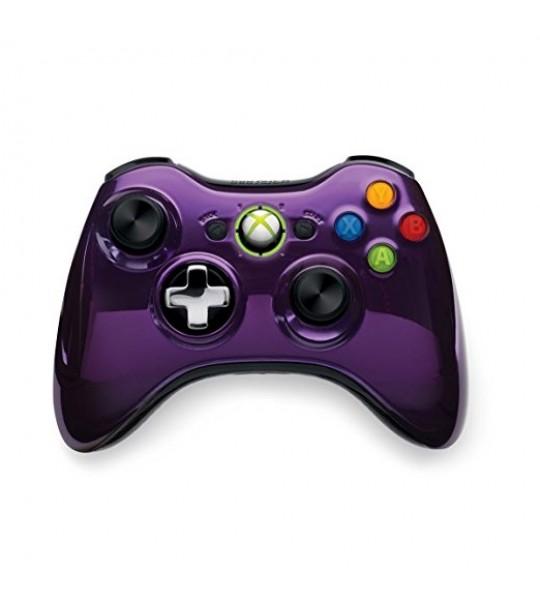 Microsoft Xb360 Wired Chrome Purple Controller Window Compatible