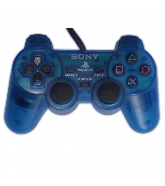 Ps2 Dual Shock Controller OEM Transparent Blue