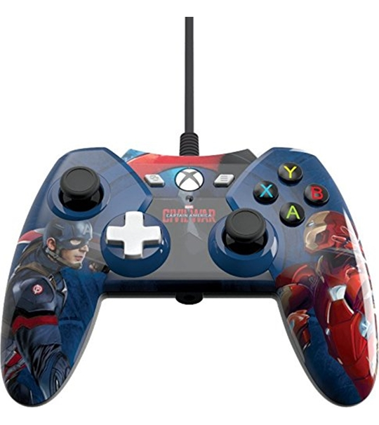 XBOX ONE CAPTAIN AMERICA WIRED CIVIL WAR CONTROLLER (XB1 AND PC COMPATIBLE)