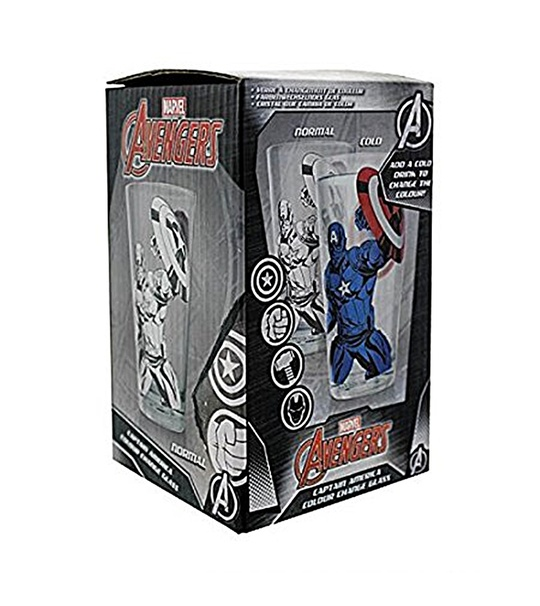 MARVEL AVENGERS CAPTAIN AMERICA COLOUR CHANGE GLASS