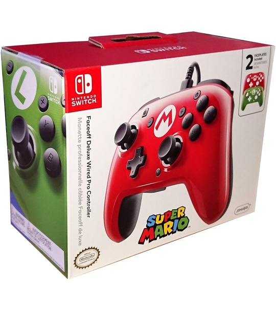 NINTENDO PDP SWITCH FACEOFF WIRED MARIO & LUIGI PRO CONTROLLER