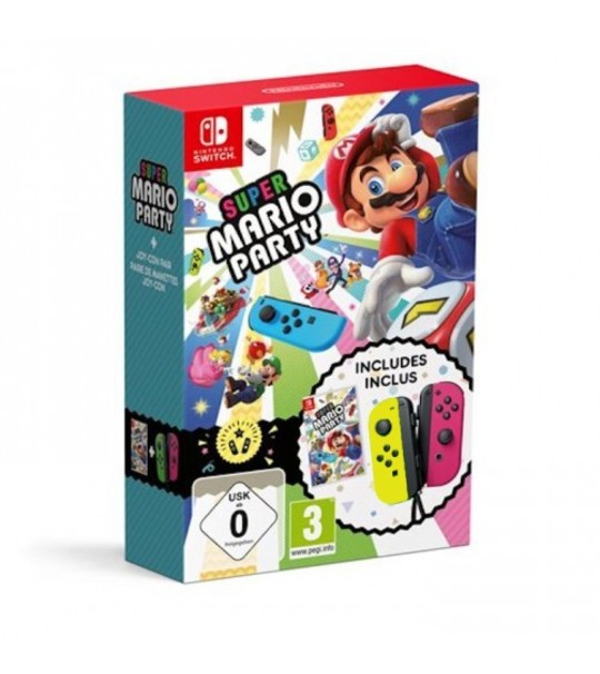 NINTENDO SWTICH MARIO PARTY JOY CON BUNDLE - YELLO/PINK [PRE ORDER 16/11/2018]