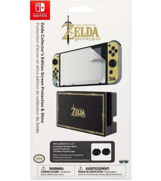 NINTENDO SWITCH ZELDA COOLECTOR EDITION SCREEN PROTECTOR AND SKINS